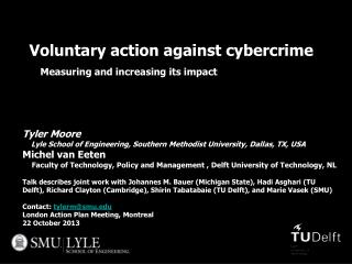 Voluntary action against cybercrime