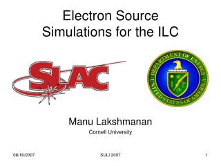 Electron Source  Simulations for the ILC
