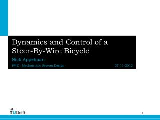 Dynamics and Control of a Steer-By-Wire Bicycle