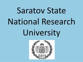 Saratov State National Research University