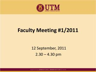 Faculty Meeting #1/2011