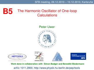 The Harmonic Oscillator of One-loop Calculations