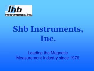 Shb Instruments, Inc.