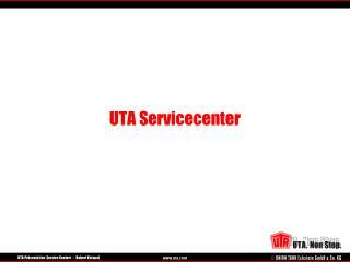 UTA Servicecenter