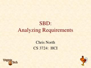 SBD: Analyzing Requirements