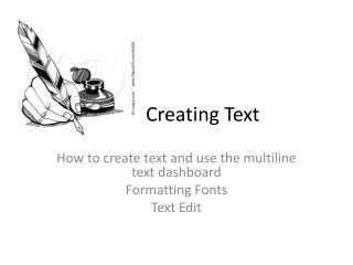Creating Text