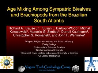 Age Mixing Among Sympatric Bivalves and Brachiopods from the Brazilian South Atlantic