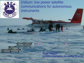Iridium: low power satellite communications for autonomous instruments