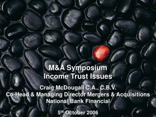 M&A Symposium Income Trust Issues