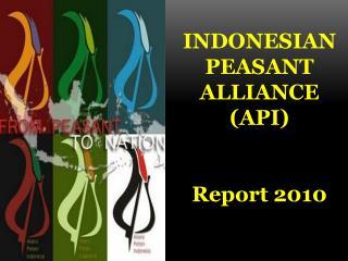INDONESIAN PEASANT  ALLIANCE (API)  Report 2010