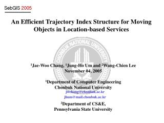 An Efficient Trajectory Index Structure for Moving Objects in Location-based Services