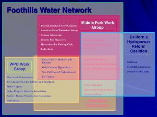 Foothills Water Network