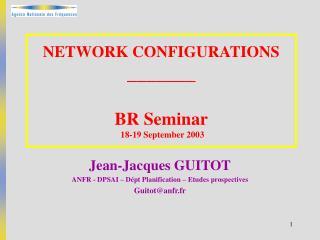 NETWORK CONFIGURATIONS _______ BR  Seminar  18-19 September 2003