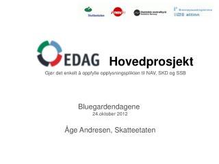 Bluegardendagene  24.oktober 2012 Åge Andresen, Skatteetaten