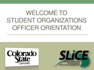 Welcome to  Student Organizations Officer orientation