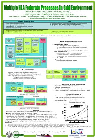 Multiple HLA Federate Processes in Grid Environment