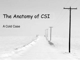 The Anatomy of CSI