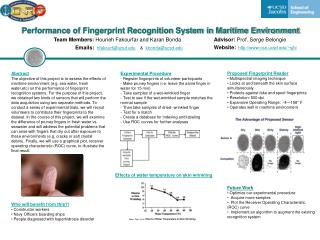Performance of Fingerprint Recognition System in Maritime Environment