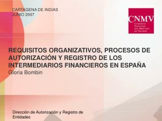Dirección de Autorización y Registro de Entidades