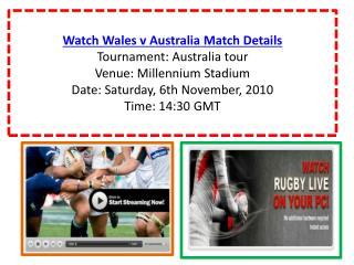 Watch Wales v Australia Rugby match of Australia tour live O