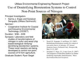 Principal Investigators Sarina J. Ergas and Sukalyan Sengupta (UMass Dartmouth) Sponsor: