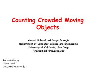 Counting Crowded Moving Objects