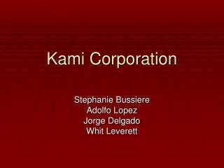 Kami Corporation