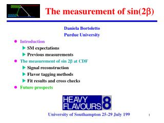 The measurement of sin(2 )