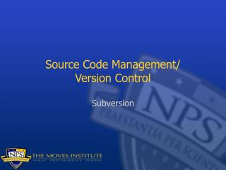 Source Code Management/ Version Control