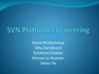 SVN Platform Engineering