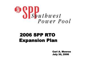 2006 SPP RTO  Expansion Plan