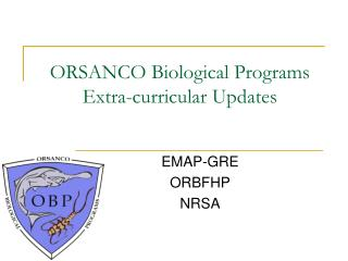 ORSANCO Biological Programs Extra-curricular Updates