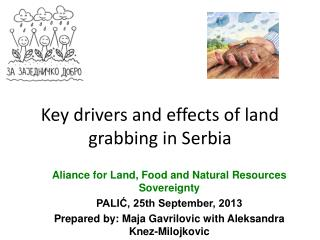K ey drivers and effects of land grabbing in Serbia