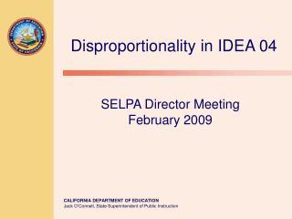 SELPA Director Meeting February 2009