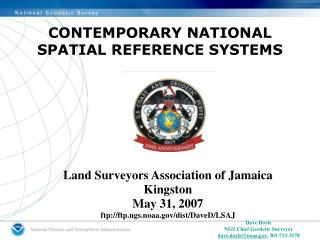 CONTEMPORARY NATIONAL SPATIAL REFERENCE SYSTEMS