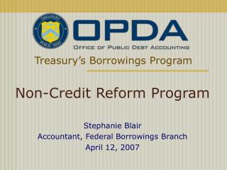 Treasury's Borrowings Program