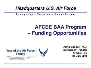 AFCEE BAA Program – Funding Opportunities
