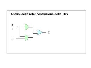 Analisi della rete: costruzione della TDV