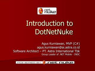 Introduction to DotNetNuke