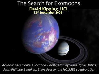 The Search for  Exomoons