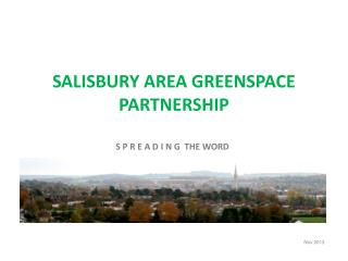 SALISBURY AREA GREENSPACE PARTNERSHIP