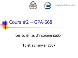 Cours #2 � GPA-668