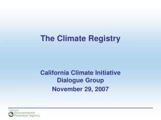 The Climate Registry