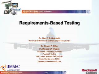 Requirements-Based Testing
