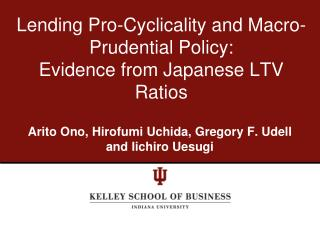 Lending Pro-Cyclicality and Macro-Prudential Policy: Evidence from Japanese LTV Ratios