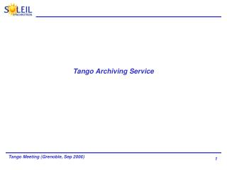 Tango Archiving Service