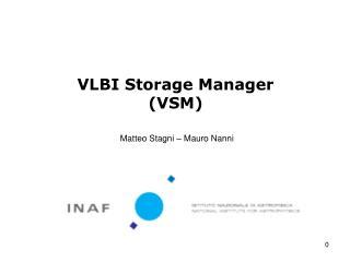 VLBI Storage Manager (VSM)