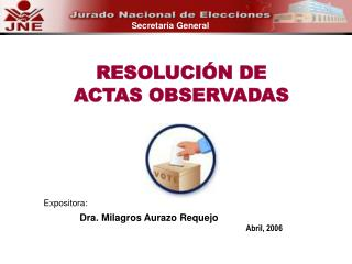Dra. Milagros Aurazo Requejo