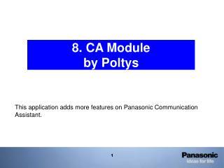 8. CA Module by Poltys