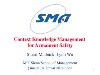 Context Knowledge Management  for Armament Safety